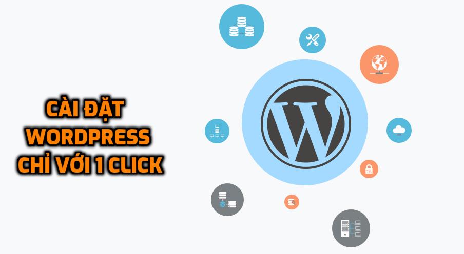 Cài đặt WordPress trên hosting tại 7Host chỉ với 1 click.